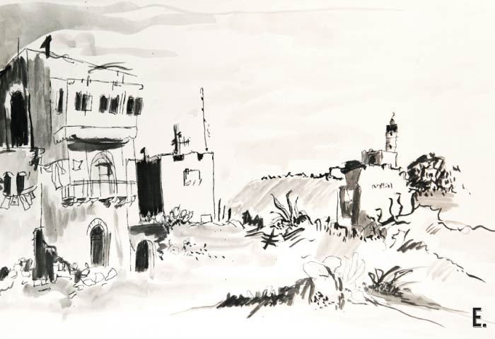 לעבוד מתוך פחד: פירוק הפחד לתוך ״הדבר עצמו״ // חורבות, אמבד בהומאז׳ דיו, 2012