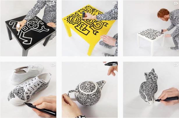 מתוך עמוד האינסטגרם של mr doodle // צילום מסך // מתנות למעצבים